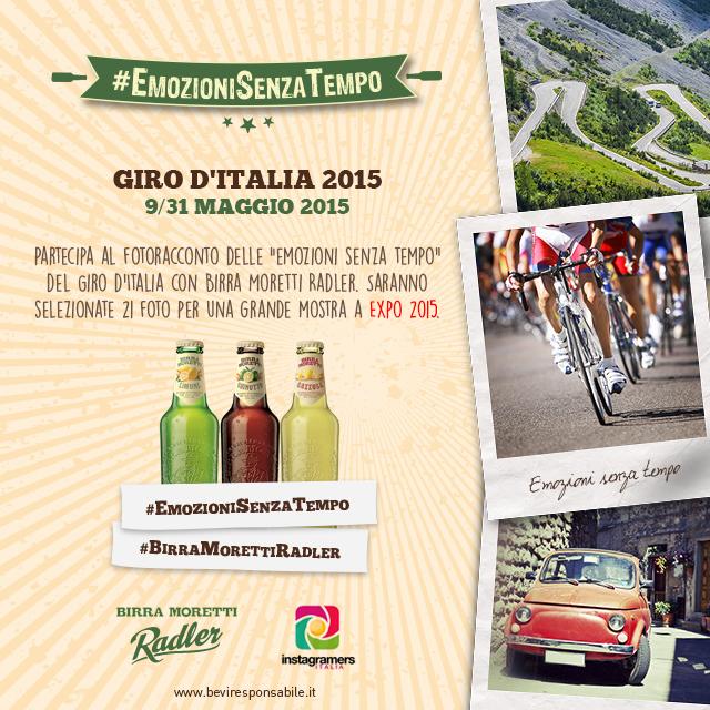 Scatta il Giro d'Italia e partecipa alla mostra a Expo 2015 di Birra Moretti Radler