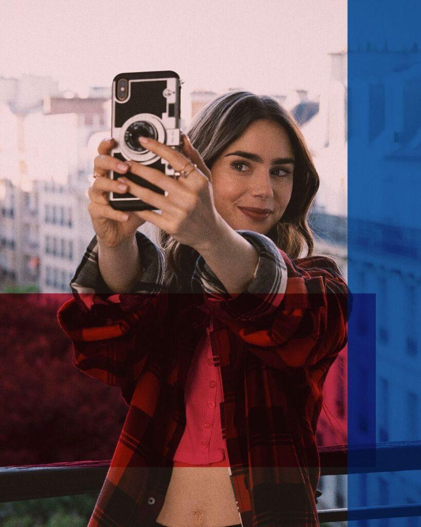 First Emily's selfie in Paris