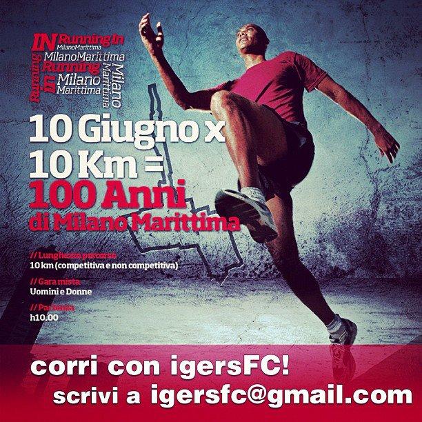 10km x 100 anni: corri con Running In Milano Marittima e IgersFC