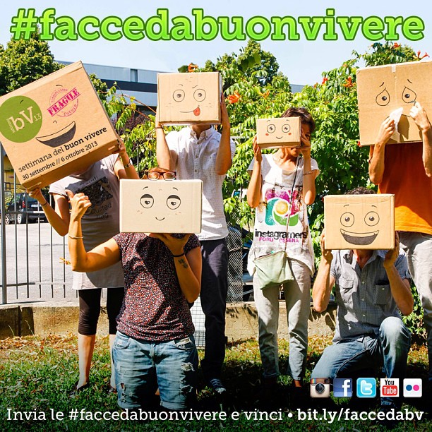 #faccedabuonvivere: partecipa a Settimana del Buonvivere 2013!