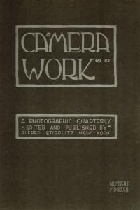Cover secondo numero Camera Work, Aprile 1903. Font e copertina ideati da Edward Steichen.