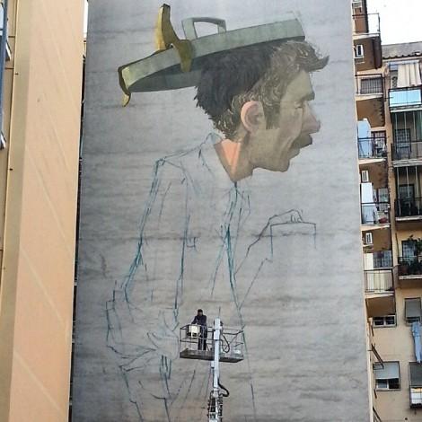 Etam Cru: il più alto murales di Roma è live su Instagram