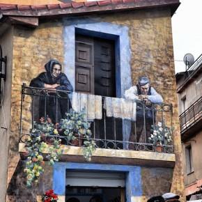 Murale di Fonni, Sardegna, fotografato da @valeriofon