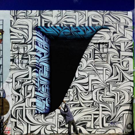 Astro: segni optical per una street art illusionistica e spettacolare