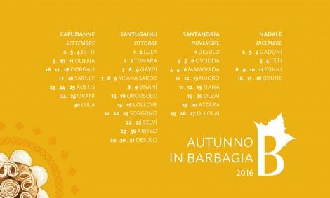 calendario 28 tappe #autunnoinbarbagia16