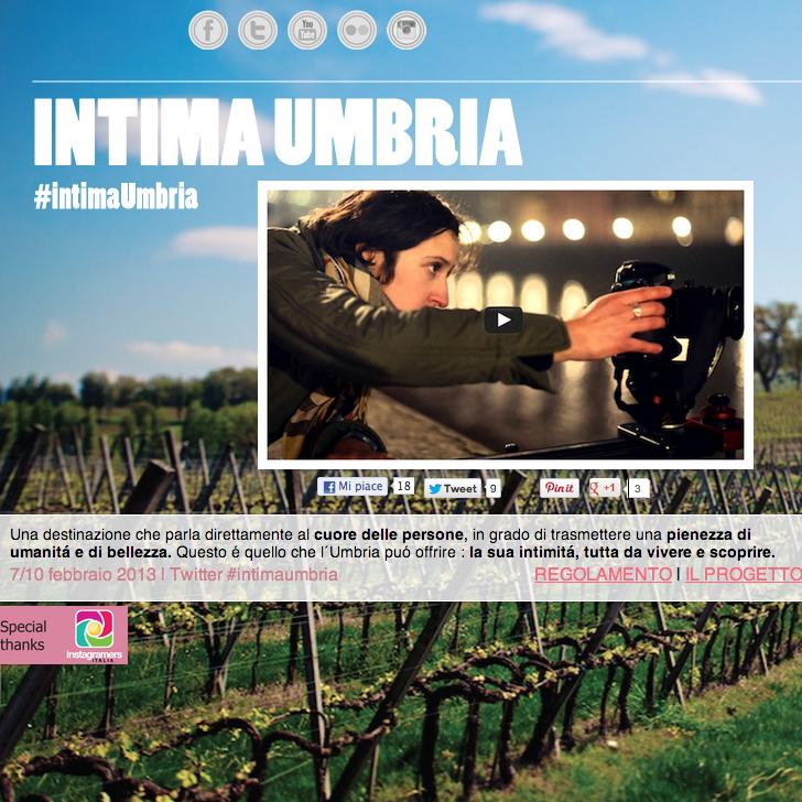 Racconto del territorio con Instagram, parte #IntimaUmbria