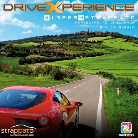 #Igers4Strappato: scatta per un giro in pole position a bordo dell'auto dei tuoi sogni
