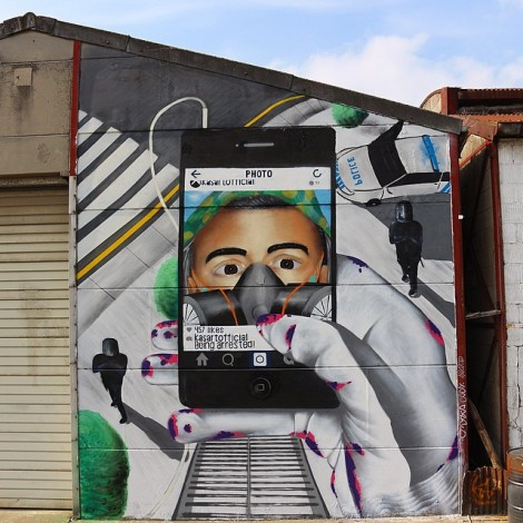 """Being arrested"": la street art ai tempi di Instagram"