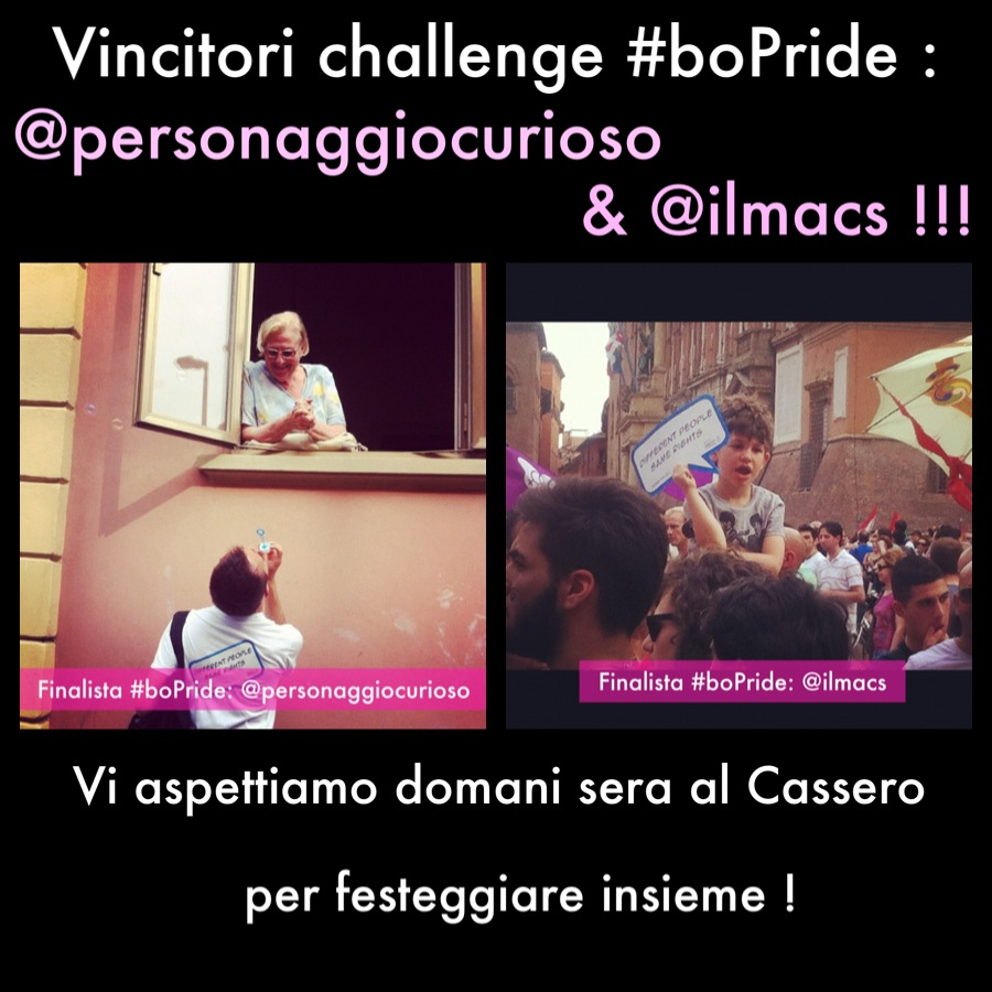 I 2 Vincitori del Challenge #BoPride – Be Proud and Shot!
