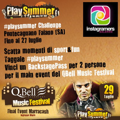 Challange Instagramers Salerno per il Playsummer