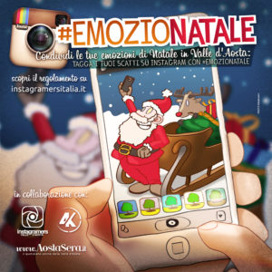 Challenge Instagram Natale in Valle d'Aosta
