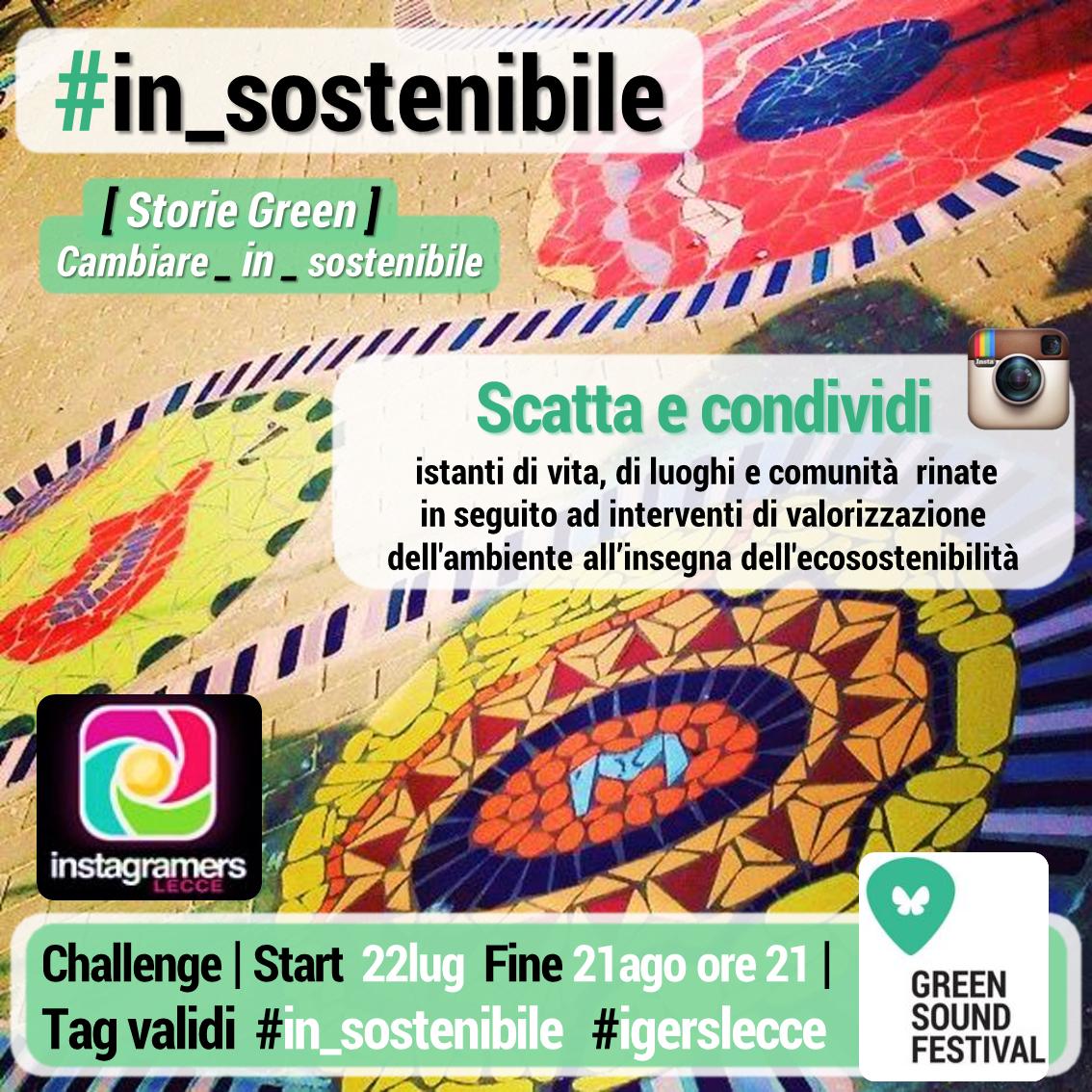 Con igersLecce arriva #in_sostenibile il green challenge del Salento!