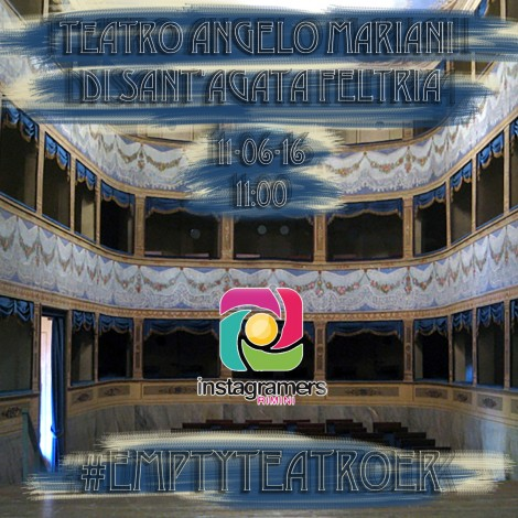 #EmptyTeatroER a Sant'Agata Feltria al Teatro Angelo Mariani