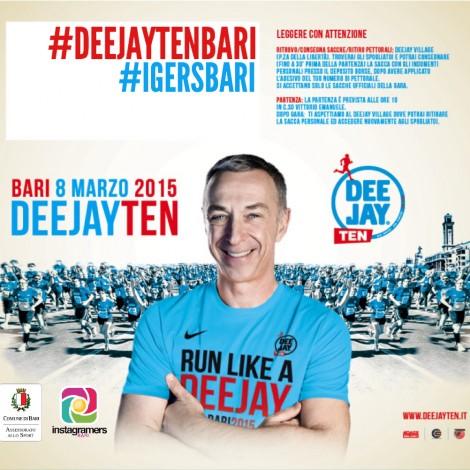Corri e scatta con Radio Deejay e Instagramers Bari per #DeejayTenBari