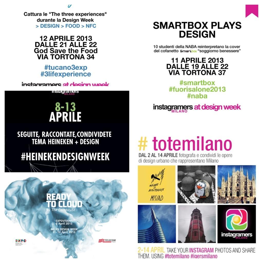 Fuorisalone 2013 eventi Instagram IgersMilano