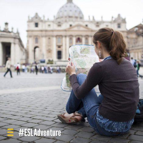 ESL quadrato per Instagram con hashtag