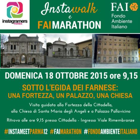 Sotto l'egida dei Farnese con @igersparma e il FAI di Parma.