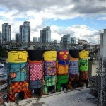 I silos dipinti a Vancouver, ph. @sheknowb