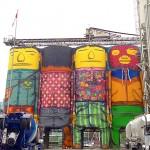 I silos dipinti a Vancouver, ph. @shooshoof