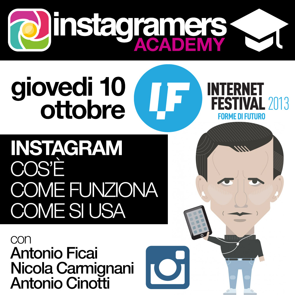 Instagramers Academy all'Internet Festival di Pisa
