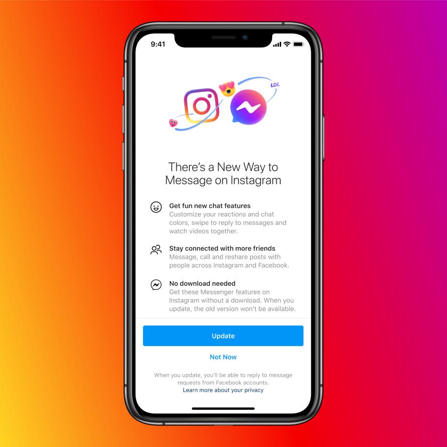 un nuovo modo di mnessaggiare su instagram
