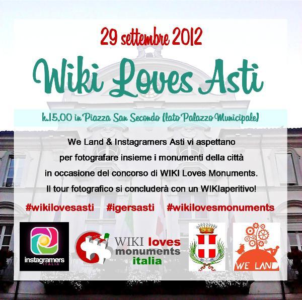 #WikilovesAsti: tour della città con IgersAsti e We Land