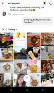 Inserimento multiplo di foto e video su Direct in una chat privata