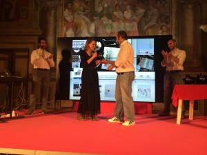 La premiazione di @virgola_ (foto di @morenaemme)