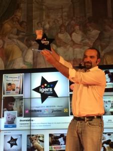 La premiazione di @linomaialino (foto di @morenaemme)