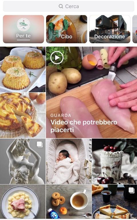 Instagram modifica la sezione Esplora