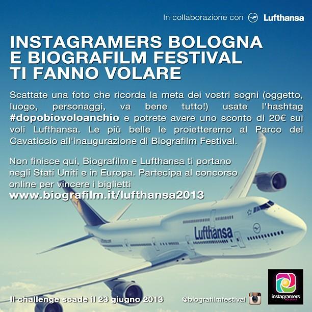 IgersBologna Biografilm festival e Lufthansa challenge Instagram