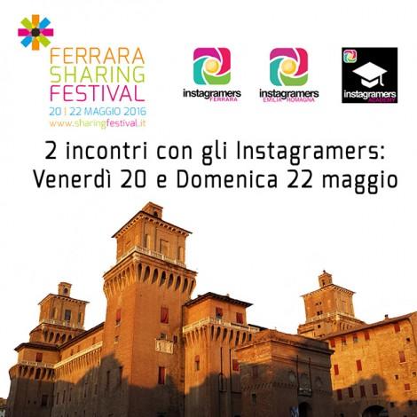 Gli instagramers allo Sharing Festival di Ferrara