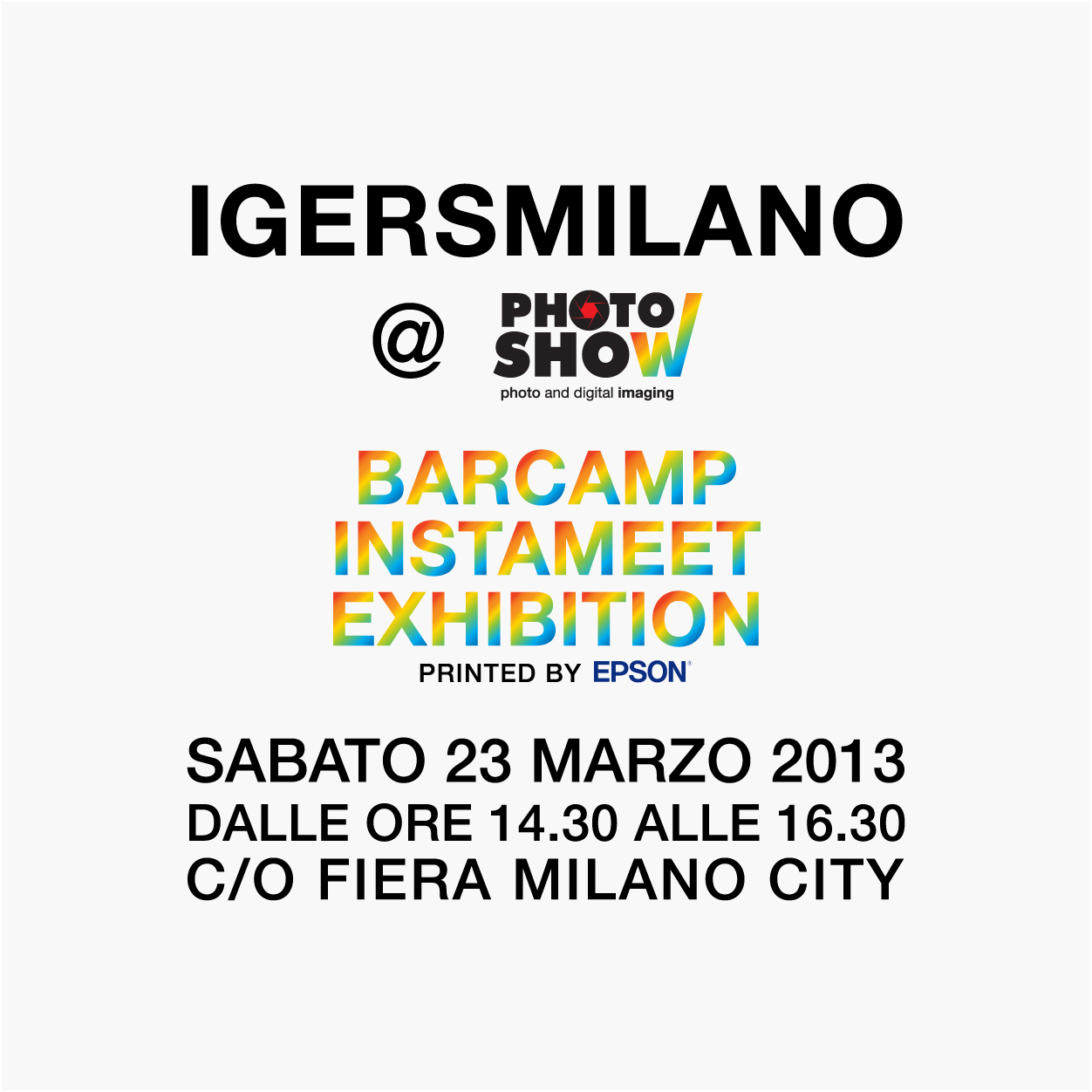 Igersmilano al Photoshow 2013: barcamp, instameet ed exhibition