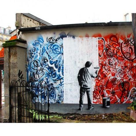 Martin Whatson: graffiti e stencil a colpi di colori