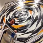 Il murales geometrico di Chris Duncan