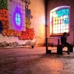 Il murales-installazione di Tilt, padiglione Francia, ph. @isamuko