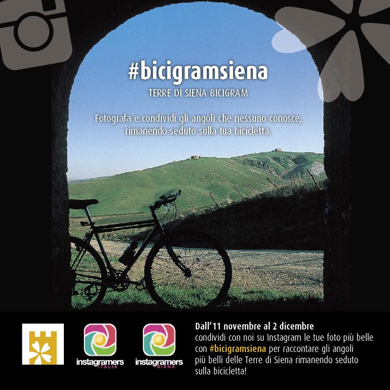 """Parte il Challenge fotografico """"Terre di Siena Bicigram"""": scatti rubati in sella ad una bici"""
