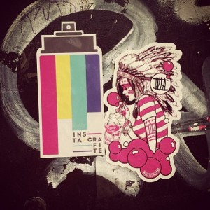 Instagrafite-whatisadam in Montreal- thx stickerapp to all