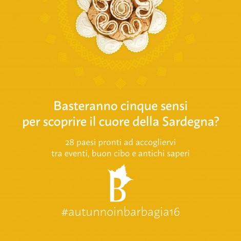 #AutunnoinBarbagia16: 28 weekend nel cuore della Sardegna