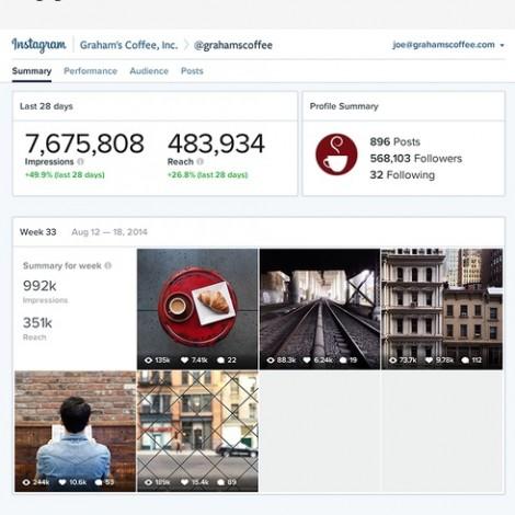 Instagram, pubblicità e statistiche: qualche anticipazione