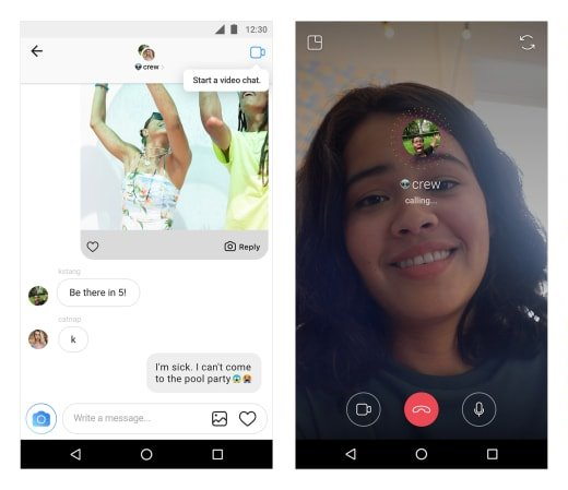 Video Chat in Direct Instagram