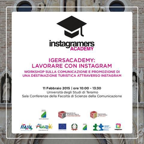 """IgersAcademy: Teramo 11 febbraio """"Instagram per la Destinazione"""""""
