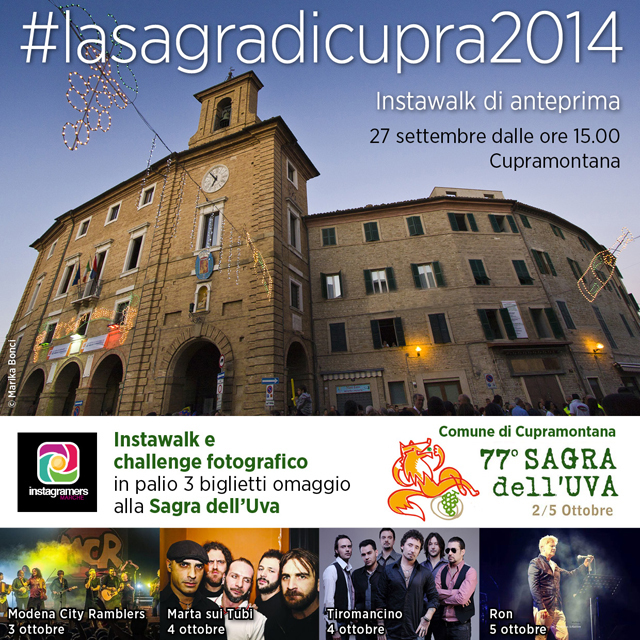 Instagramers Sagra Uva Cupramontana