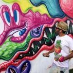Kenny Scharf riprende un suo lavoro del 2009 a Miami