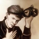L'omaggio dello street artist @lartesanuotare a David Bowie