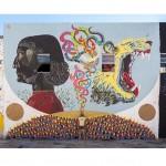 La collaborazione con Basik e Zamoc a Miami, ph. @elgraffiti