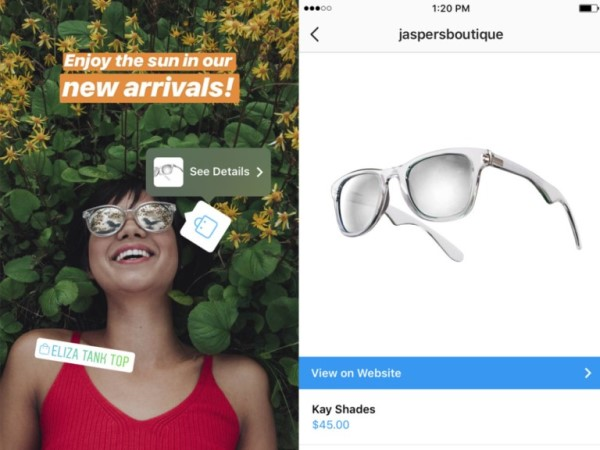 Instagram introduce la funzione Shopping nelle stories dei brand