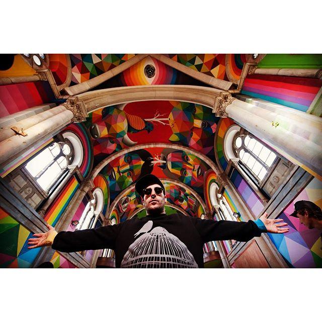 L'artista @okudart nella Iglesia Skate, ph. @la_iglesiaskate via @inkandmovement