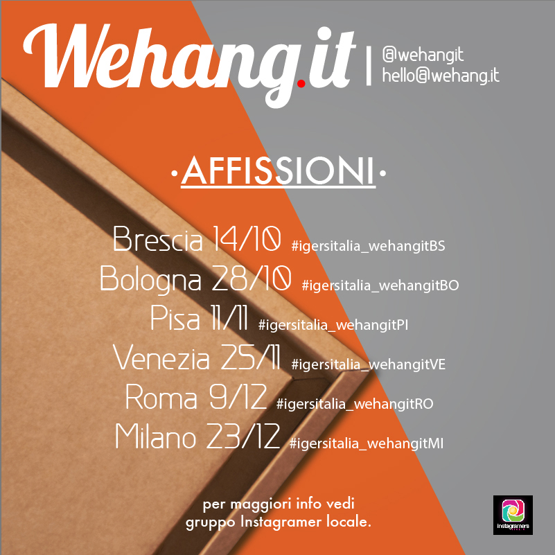 We Hang It in tour con gli Instagramers