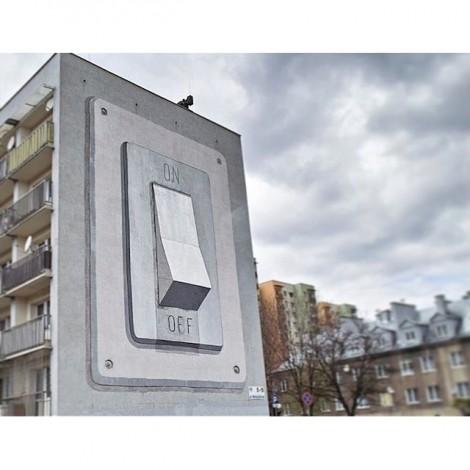 Il Magritte della street art: Escif sui muri di Spagna